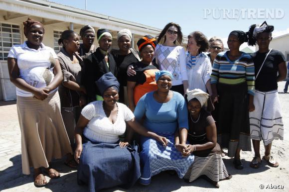 Carla Bruni visite un atelier à  Khayelitsha, près de Cape Town, le 28 février 2008.