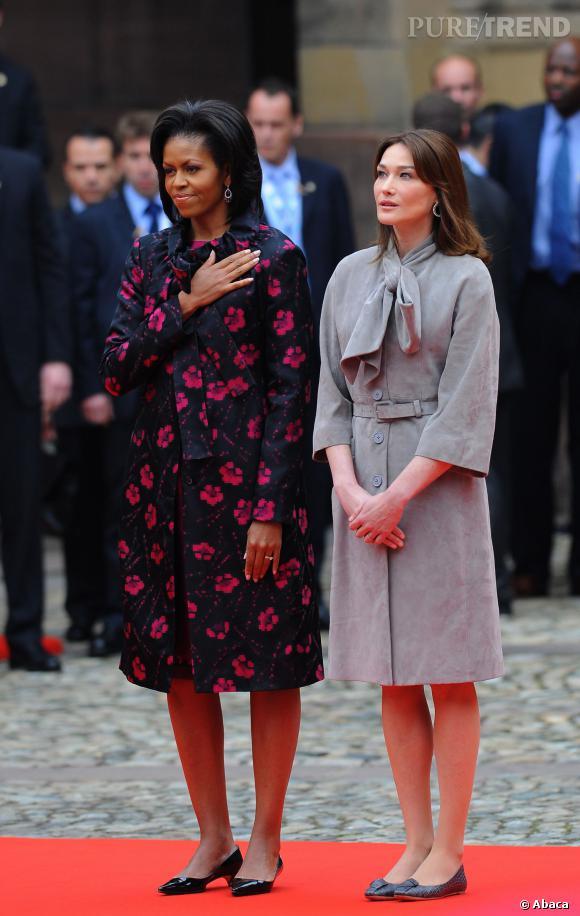 Michelle Obama en visite en France, en 2009.
