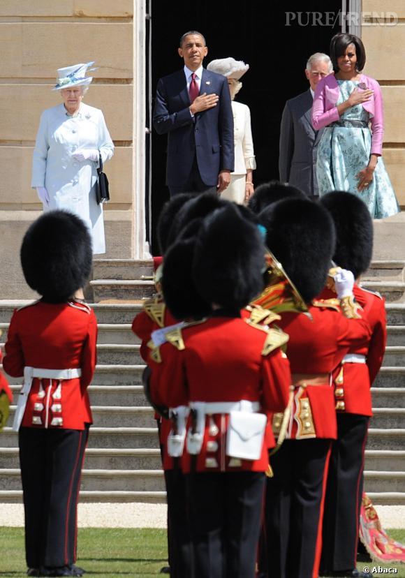 Michelle et Barack Obama en Angleterre, le 4 mai 2011.
