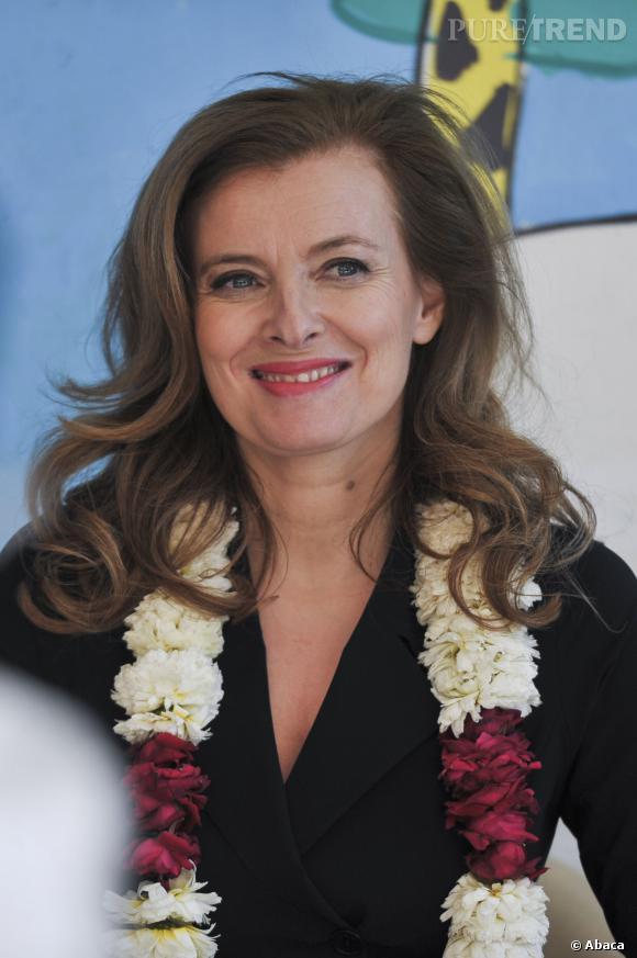 Valérie Trierweiler, lumineuse en Inde.