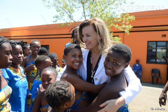 Valérie Trierweiler lors d'une visite à Soweto en Afrique, en octobre 2013.