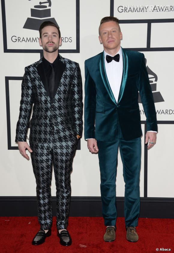 Macklemore et Ryan Lewis, séduisants hipsters sur le tapis rouge.