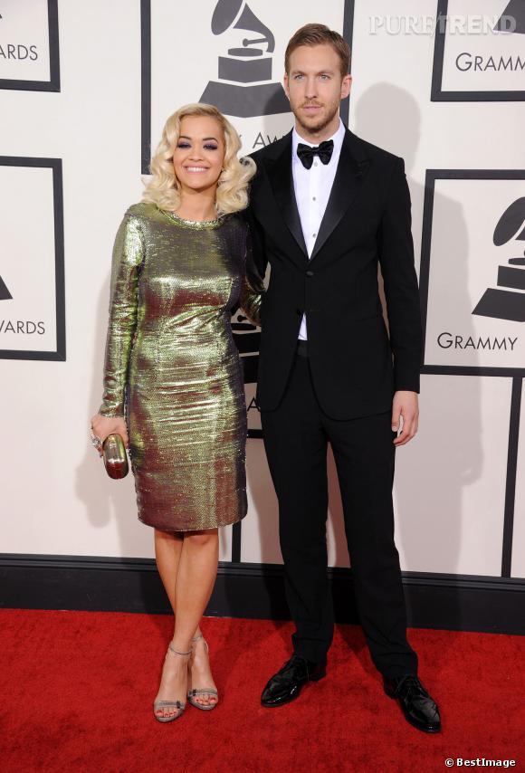 Rita Ora et Calvin Harris, élégance et style rétro.