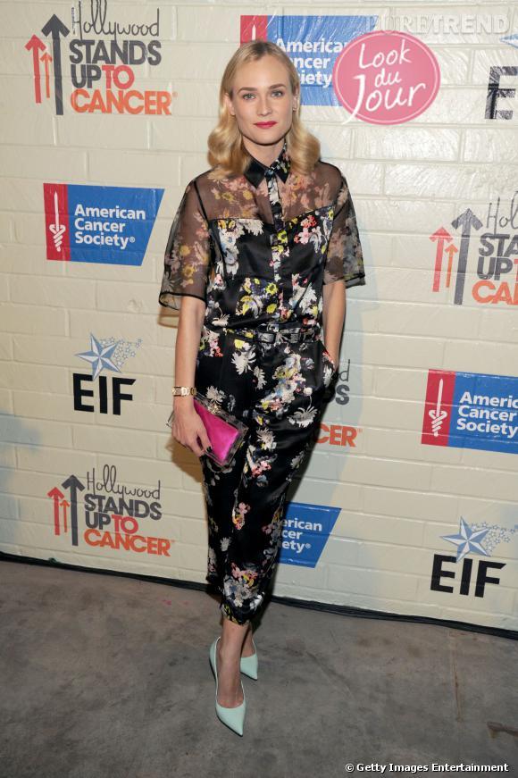 Diane Kruger à la soirée de charité organisée par Reese Witherspoon et son mari Jim Toth pour la fondation Stand Up to Cancer à Culver City.