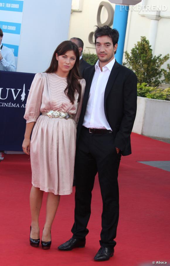 Mylène Jampanoï va être maman pour la première fois en 2014, enceinte de son compagnon, le Grec Dimitri Stephanidès