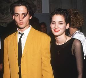 """Winona Ryder et Johnny Deppe se sont rencontrés sur le tournage du film """"Edward aux Mains d'argent"""" et sont restés ensemble quatre ans."""