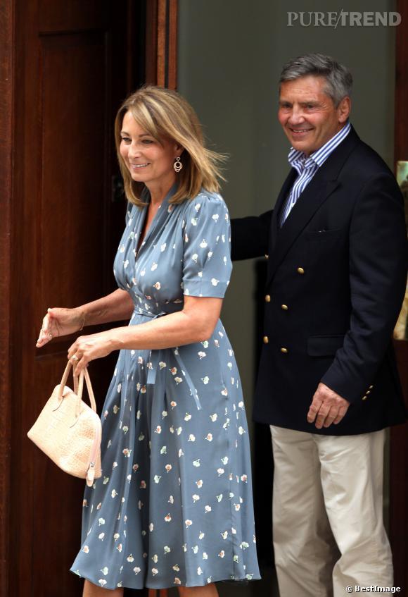 Carole et Michael Middleton, les grands-parents du petit George.