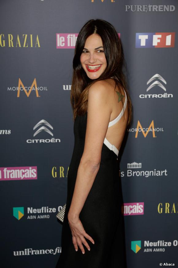 Helena Noguerra, l'invitée la plus sexy des Trophées du Film Français 2014 à Paris.