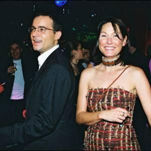 Evelyne Thomas et Jean-Luc Delarue en 2000.