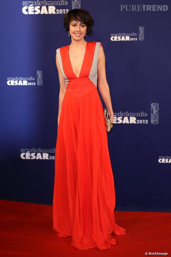 Valérie Bonneton, superbe lors de la cérémonie des César, en 2012.