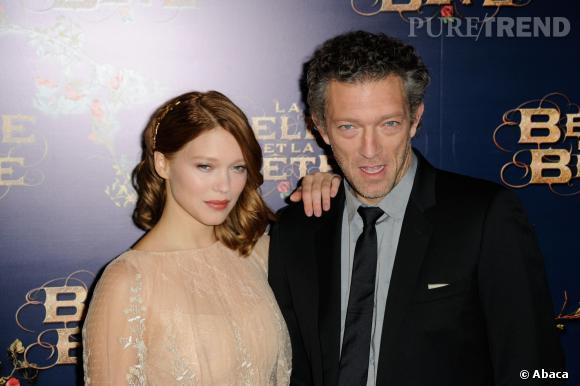 """Léa Seydoux et Vincent Cassel, les héros de """"La Belle et la Bête""""."""