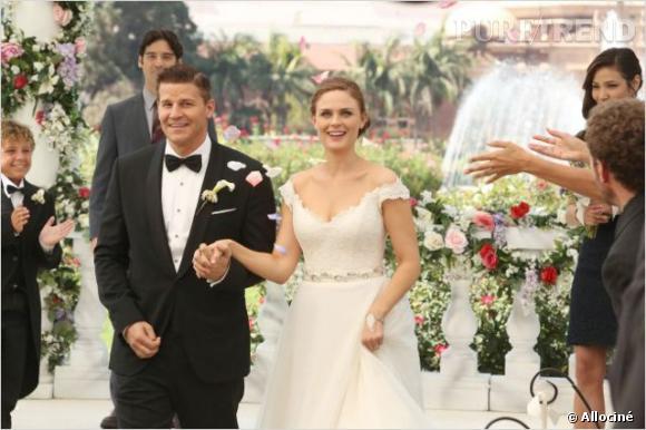 """Brennan et Booth se sont enfin dits oui dans la série """"Bones"""" !"""