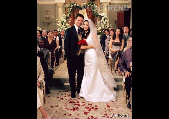 """Un mariage culte : celui de Chandler et Monica dans """"Friends""""."""