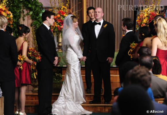 """Dans """"Glee"""", on pense forcément au mariage d'Emma et Will, mais il y a également celui de Carol et Burt."""