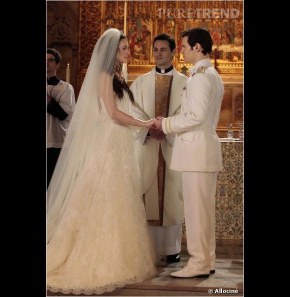 """Dans """"Gossip Girl"""", Blair se marie avec Louis, un prince."""
