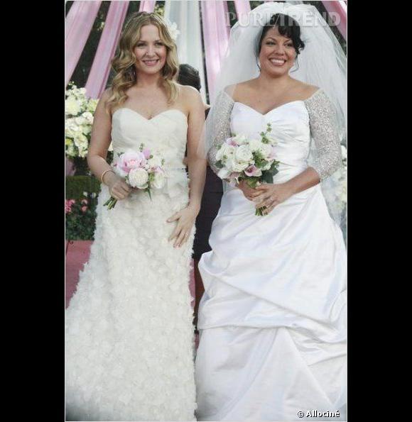 """Callie et Arizona se sont également mariées dans """"Grey's Anatomy""""."""