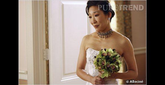 """Dans """"Grey's Anatomy"""", Cristina avait aussi enfilé une robe pour son mariage avec Burke."""