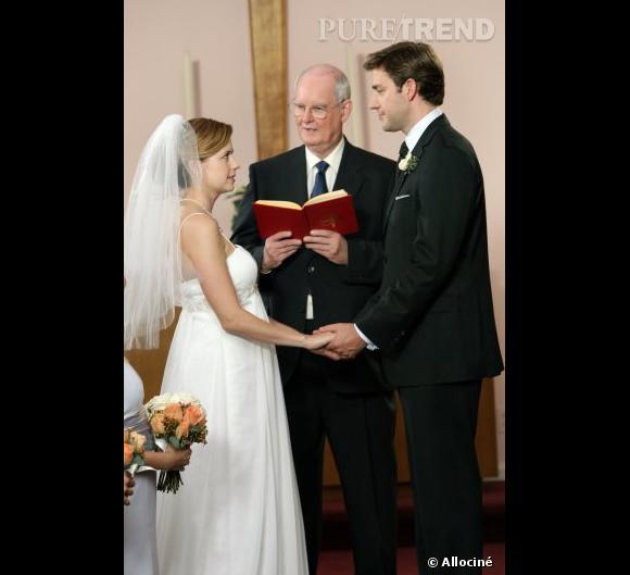 """Le mariage de Jim et Pam fut plutôt chaotique dans """"The Office""""."""