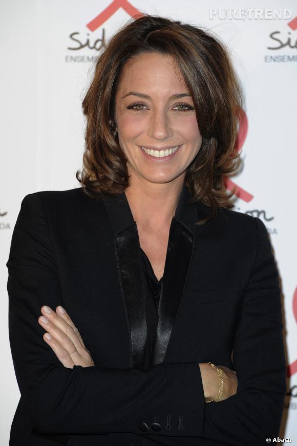 """Virginie Guilhaume est l'animatrice montante de France 2, elle a présenté avec brio les """"Victoires de la Musique"""" hier, vendredi 14 février 2014."""