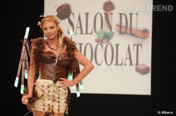 Ariane Brodier a défilé deux fois au Salon du Chocolat, ici en 2010.