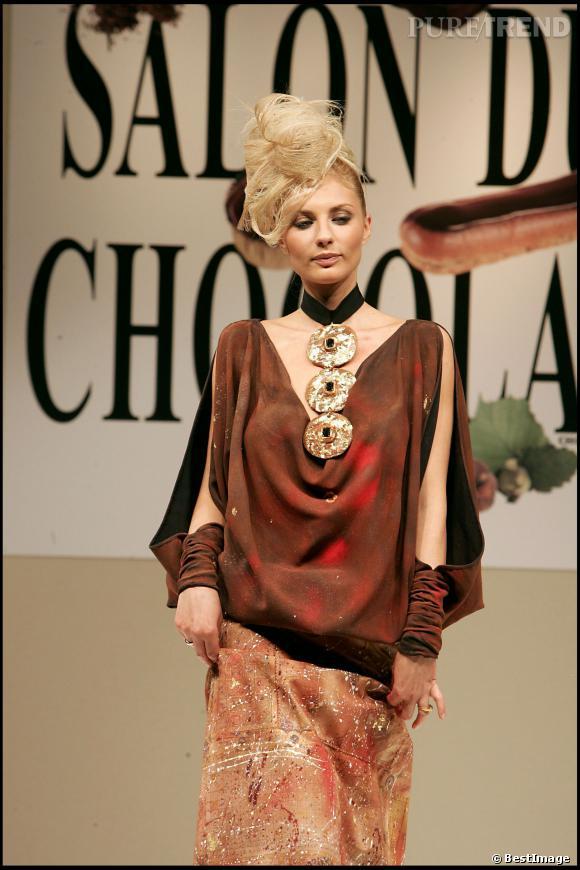 Ariane Brodier lors du Salon du Chocolat en 2005.