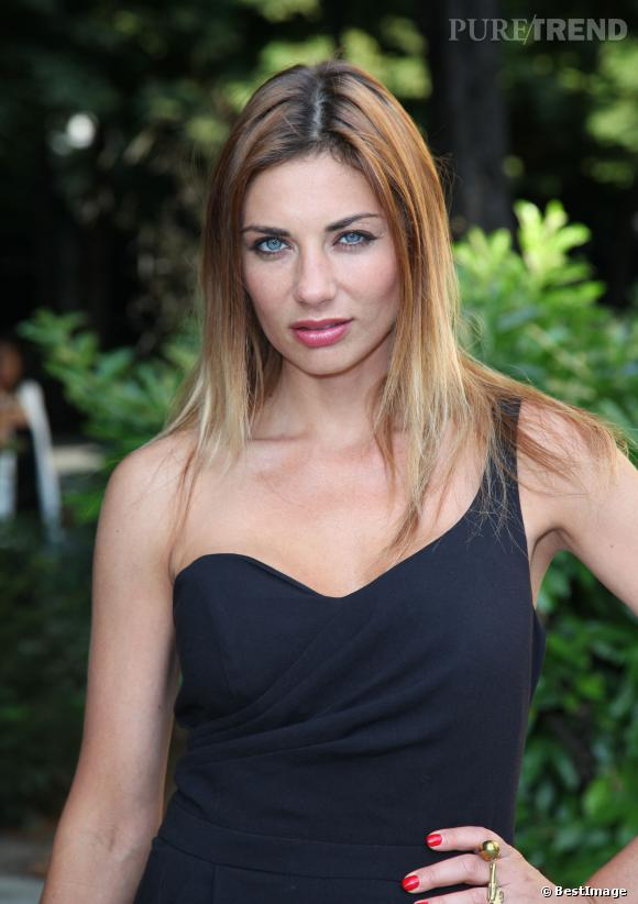 Ariane Brodier au défilé Eric Tibusch en juillet 2013.