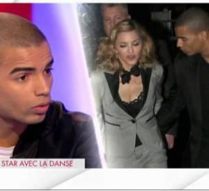 """Brahim Zaibat raconte sa rencontre avec Madonna sur le plateau de """"Clique"""" de Mouloud Achour, le 23 février 2014."""