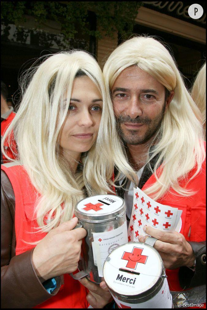 Adeline blondieau et bernard montiel pour la qu te de la croix rouge en 2007 - Bernard montiel et sa compagne ...