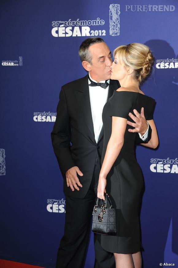 Thierry Ardisson et Audrey Crespo-Mara, aux César en 2012.