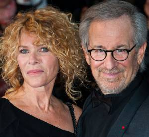 Kate Capshaw, rôle féminin principal dans Indiana Jones et le Temple maudit. Ici avec son mari Steven Speilberg au Festival de Cannes en 2013.