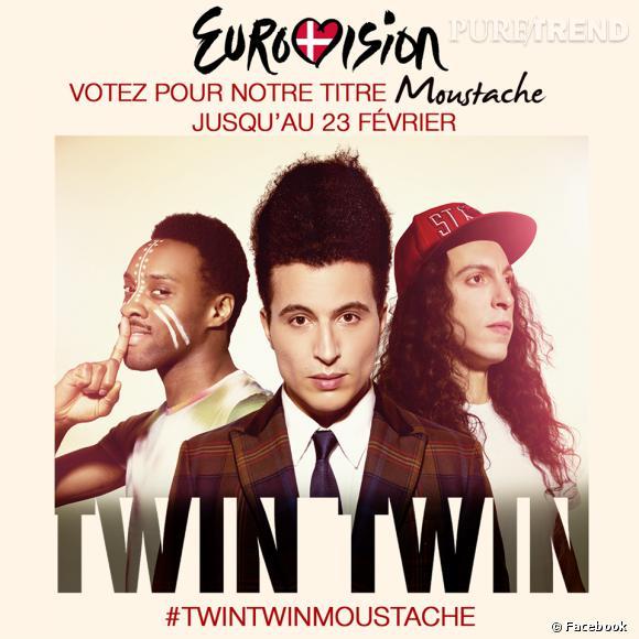 """Les Twin Twin représenteront la France avec leur morceau """"Moustache""""."""