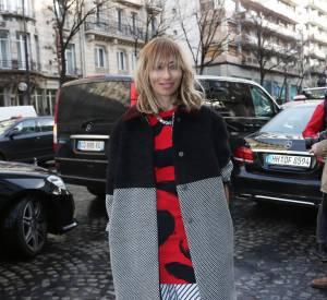 Alexandra Golovanoff chez Sonia Rykiel Automne-Hiver 2014/2015.