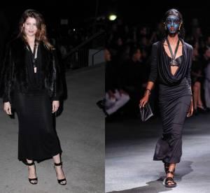 Laetitia Casta VS le podium : la brassière en cuir Givenchy Eté 2014