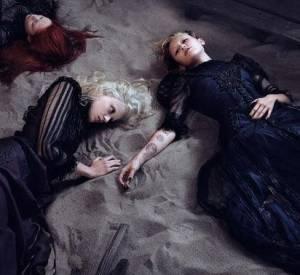 Miley Cyrus, Esmerelda Seay Reynolds et Natalie Westling, les naufragées de la campagne Printemps-Eté 2014 de Marc Jacobs.