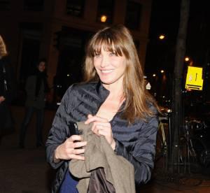 Carla Bruni,  cuir et séduction pour l'ex première Dame