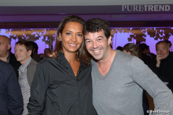 Karine Le Marchand et Stéphane Plaza lors de la soirée d'inauguration du Pure Club Med Gym Bastille à Paris, le 7 juin 2012.