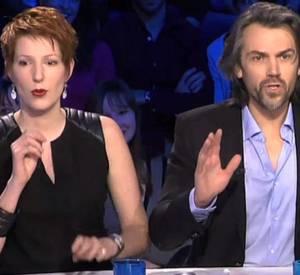 """Clash entre Natacha Polony et Aymeric Caron dans l'émission """"On n'est pas couché"""" du 8 mars 2014."""