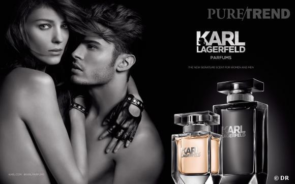 For Him et For Her, les deux nouvelles fragrances de Karl Lagerfeld incarnées par Baptiste Giabiconi et Kati Nescher.