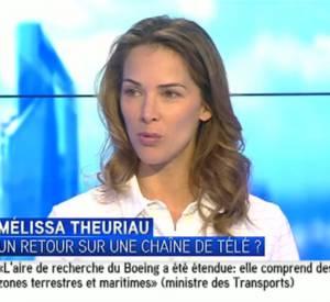 """Melissa Theuriau parle de son travail de productrice à I > Télé, lors de l'émission """"La semaine des médias""""."""