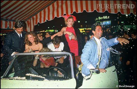 """Thierry Lhermitte à la première du film """"Le mariage du siècle"""" en 1985."""