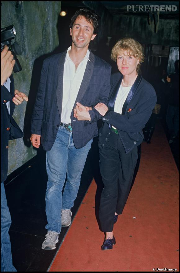 Thierry Lhermitte et sa femme Hélène en 1986.