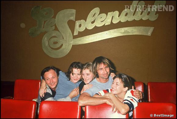 Josiane Balasko, Cécile Auclert, Thierry Lhermitte et Jane Birkin en 1988.