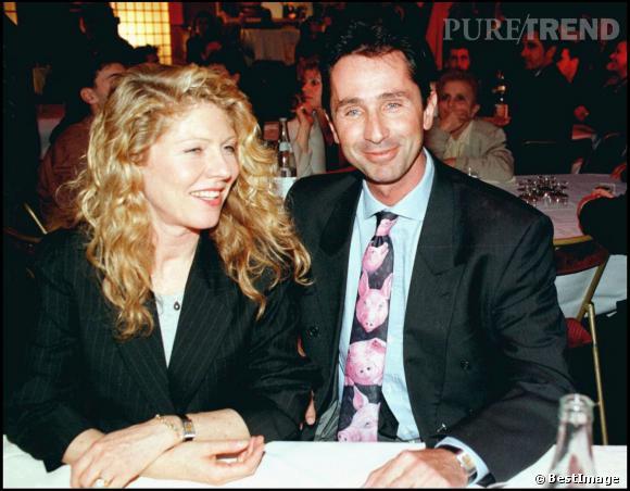 Thierry Lhermitte et sa femme Hélène en 1995.