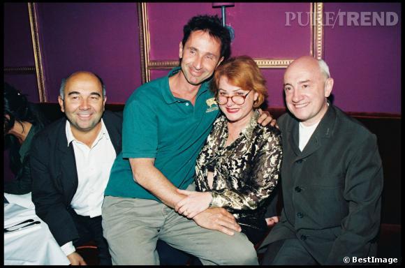 Gérard Jugnot, Thierry Lhermitte, Josiane Balasko et Michel Blanc en 1997.