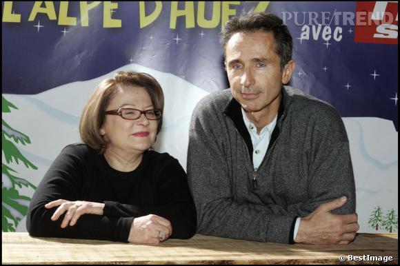 Thierry Lhermitte et Josiane Balasko au Festival de l'Alpe d'Huez en 2005.