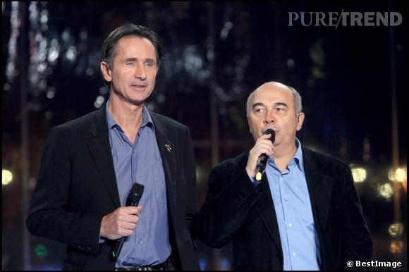 Thierry Lhermitte et Gérard Jugnot au Téléthon 2006.