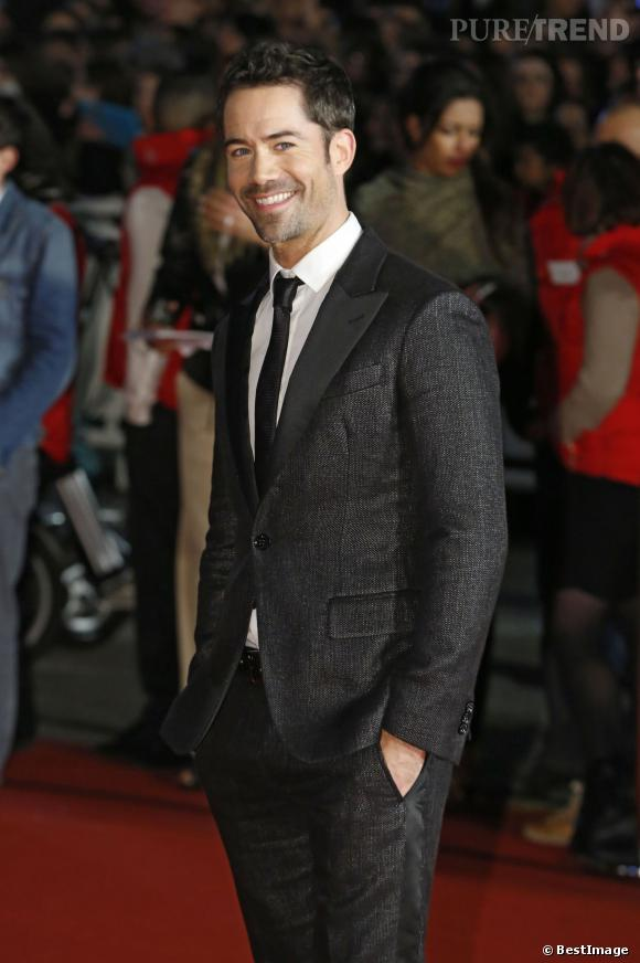 Emmanuel Moire sur le tapis rouge des NRJ Music Awards, le 14 décembre 2013.