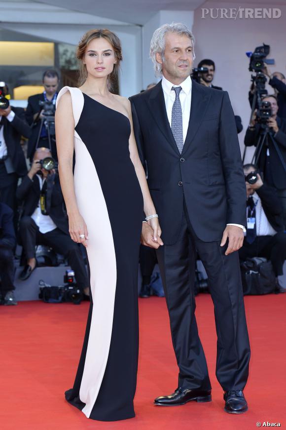 Kasia Smutniak et son compagnon, le producteur Domenico Taricone.