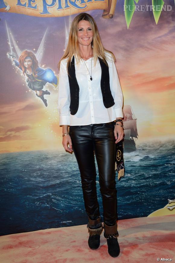 Sophie Thalmann, Miss France 1998, lors de l'avant-première de Clochette et la fée pirate à Paris, le 25 mars 2014.