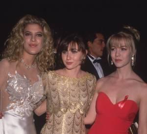 Jenny Garth avec Tori Spelling et Shannen Doherty lors des People's Choice Awards 1992.